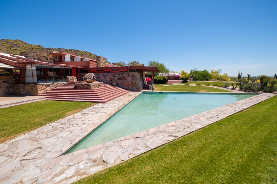 Frank Lloyd Wright and Taliesin West in Scottsdale, AZ