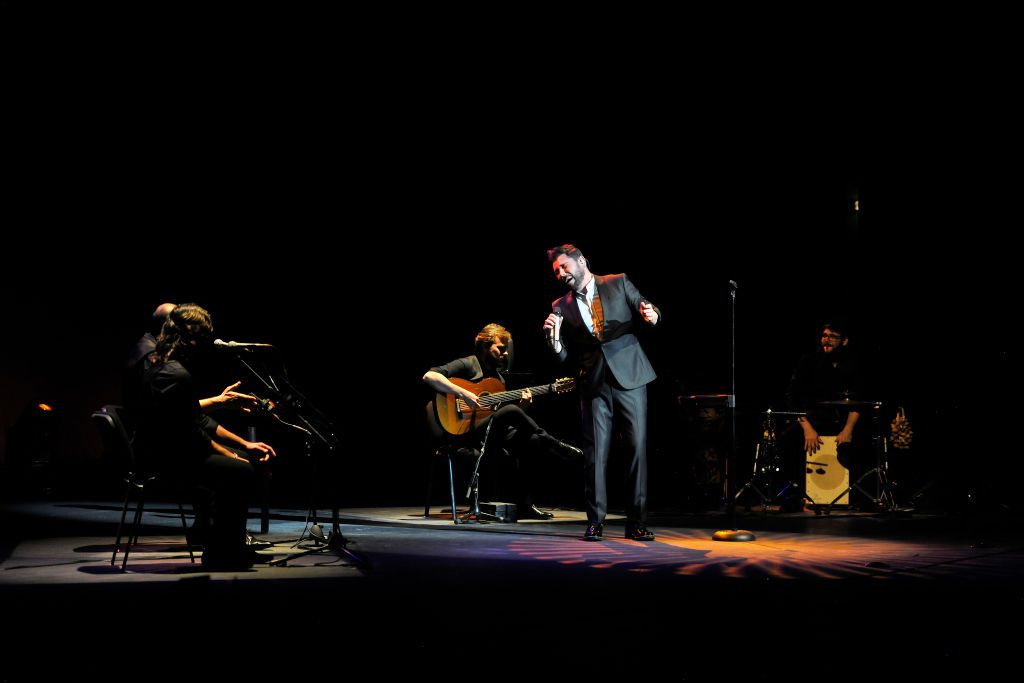 Miguel Poveda performs in the Festival Centro Historico