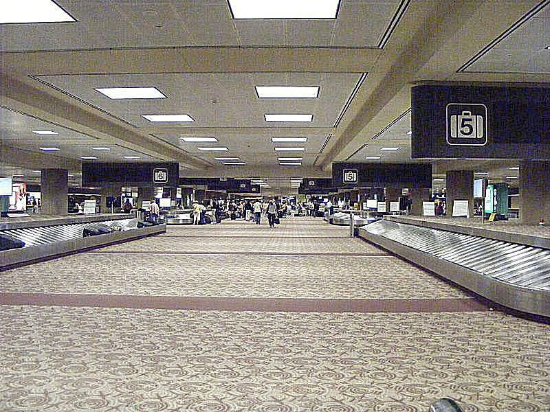 A baggage claim area at Phoenix Sky Harbor International Airport.
