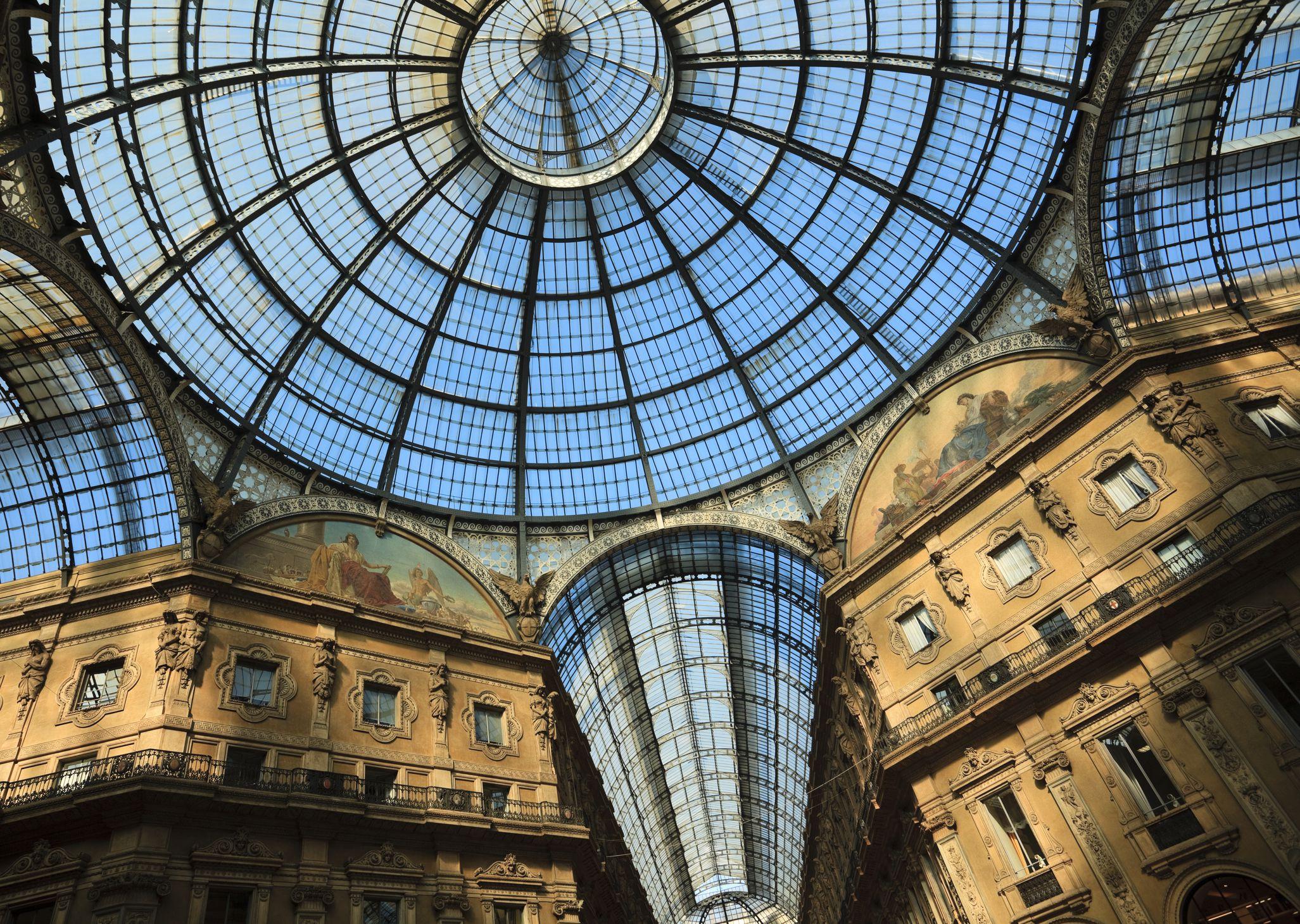 Cúpula de cristal de la Galería Vittorio Emanuele II