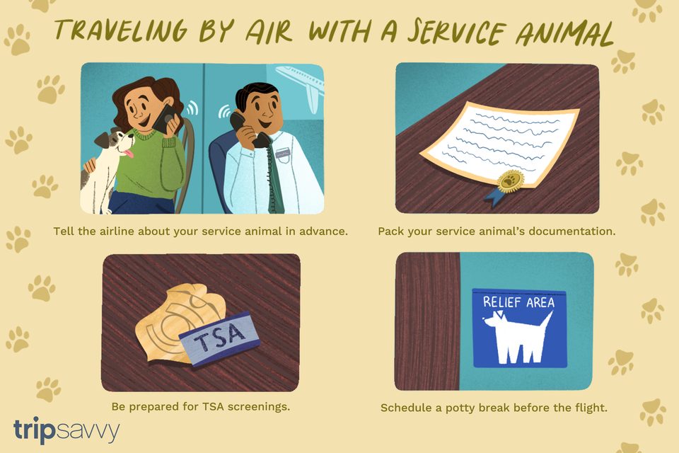how to travel with a service animal