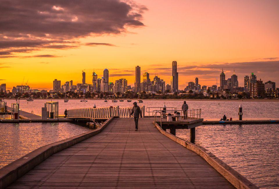 Beautiful twilight, Melbourne, Australia.