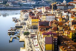 View of Porto from Dom Luís I Bridge
