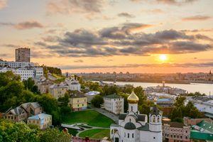 Save to Board Nizhny Novgorod at sunset, Russia
