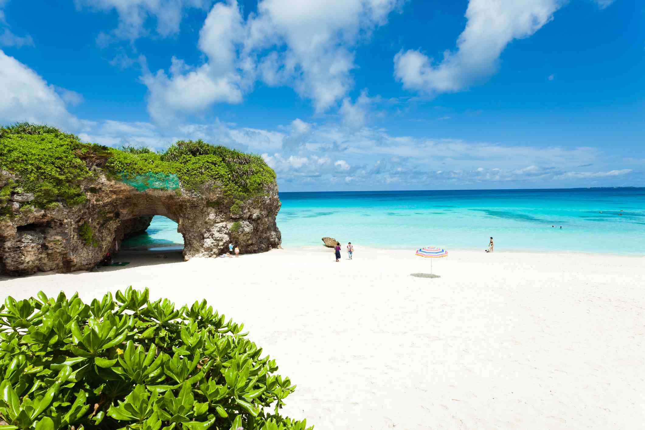 Tropisches Insel Strand-Paradies, Okinawa, Japan