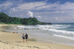 Summer morning at Port Macquarie's Flynn Beach, New South Wales North Coast
