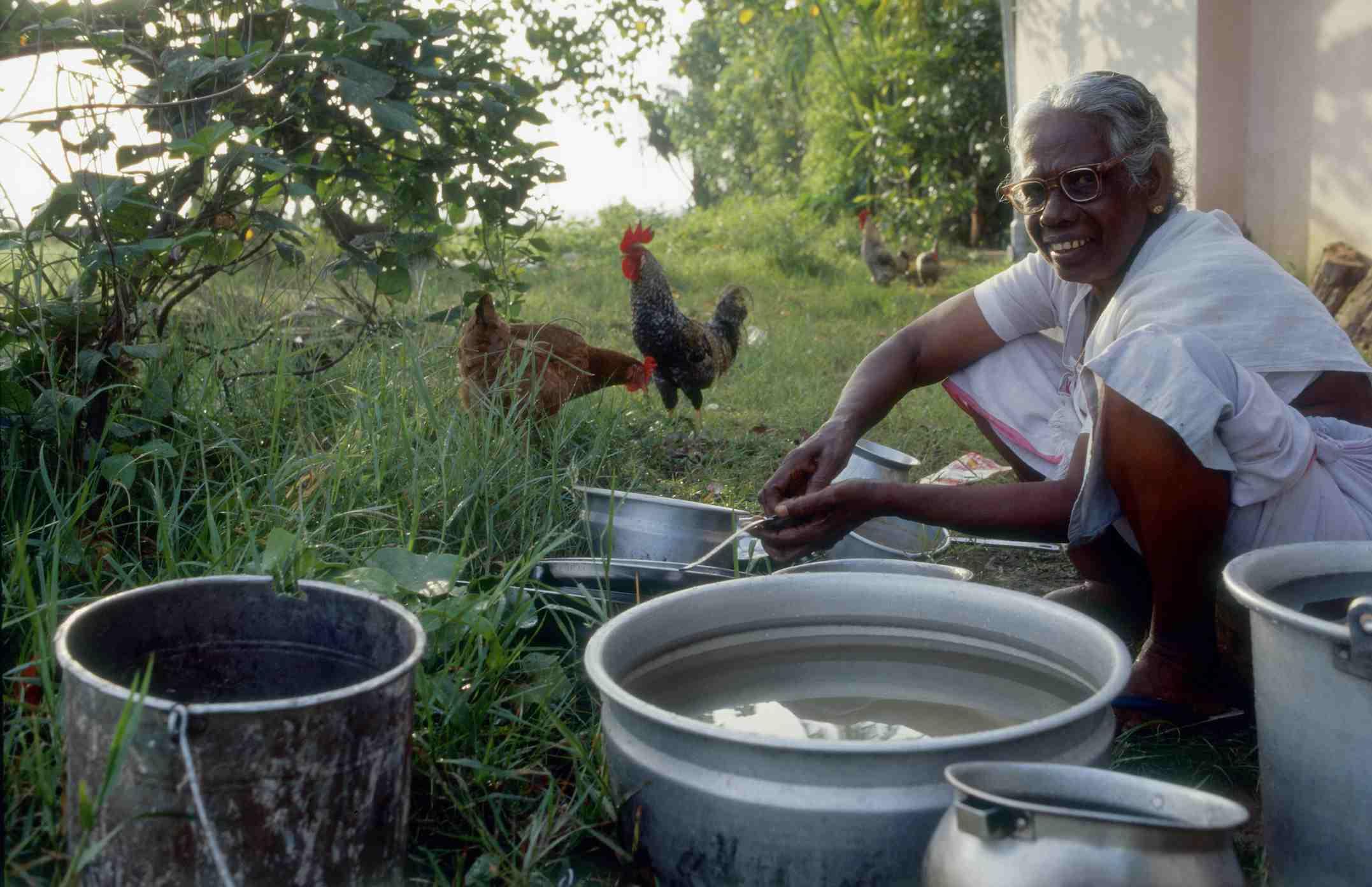 Kerala backwaters life.
