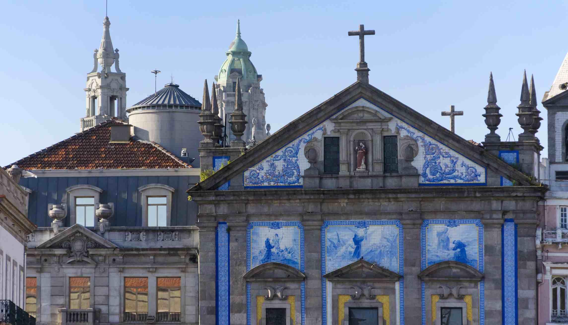 Tiled church in Porto, Portugal