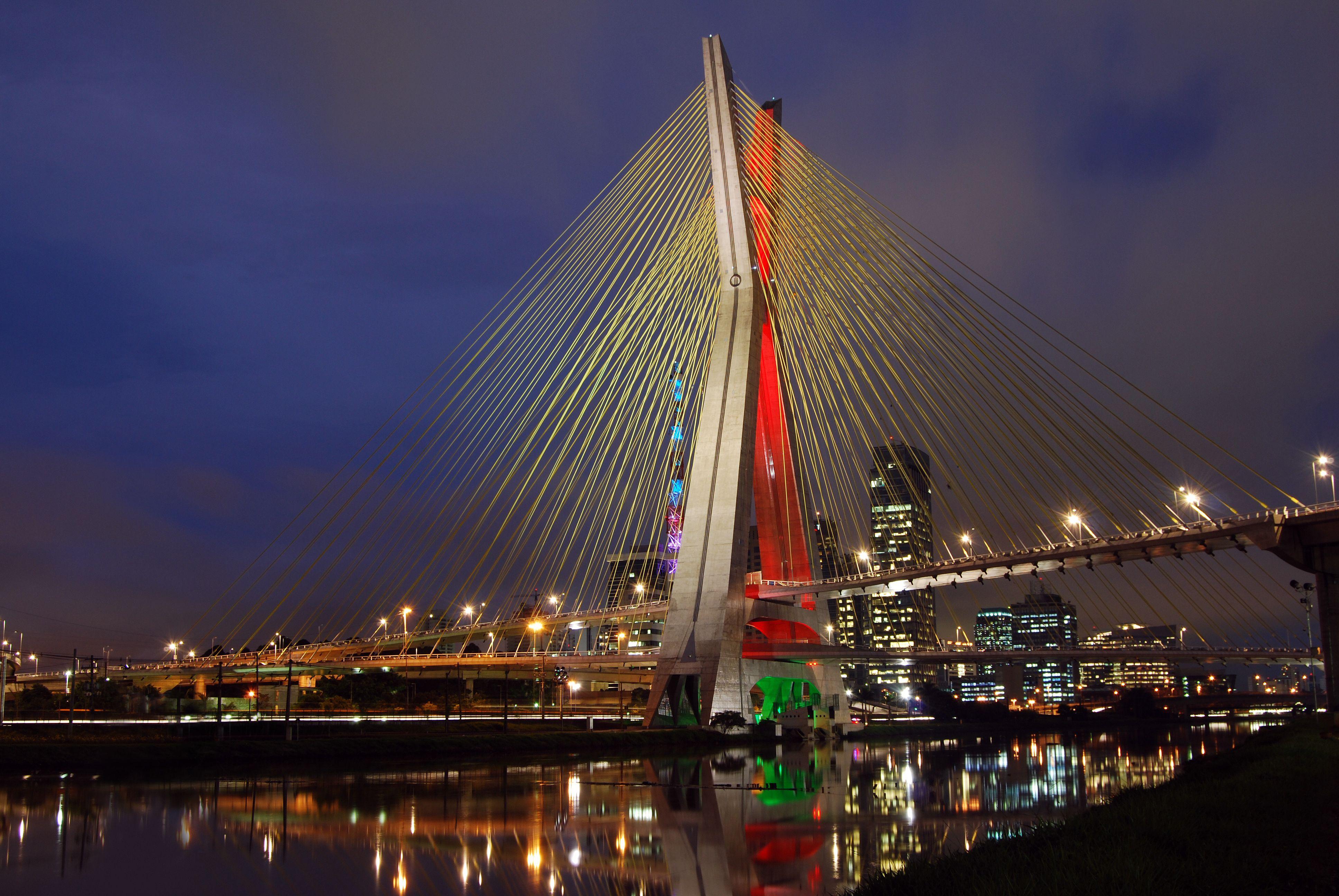 Ponte Estaiada Octavio Frias de Oliveira in Sao Paulo