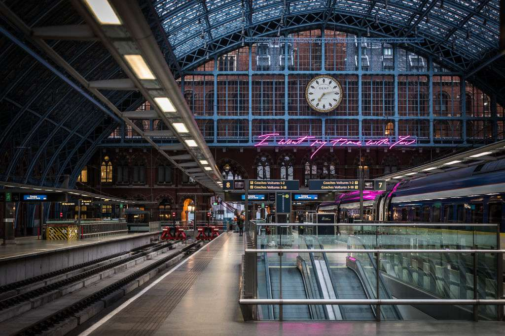 St. Pancras Station in London