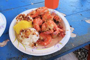 Scampi shrimp plate, Hale'iwa, Hawaii