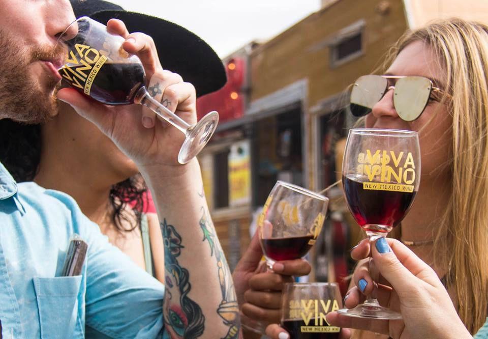 People celebrating Albuquerque Wine Festival