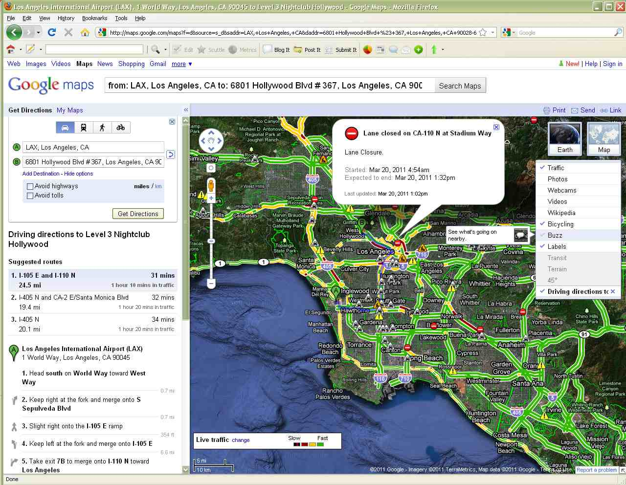 best los angeles traffic maps and directions