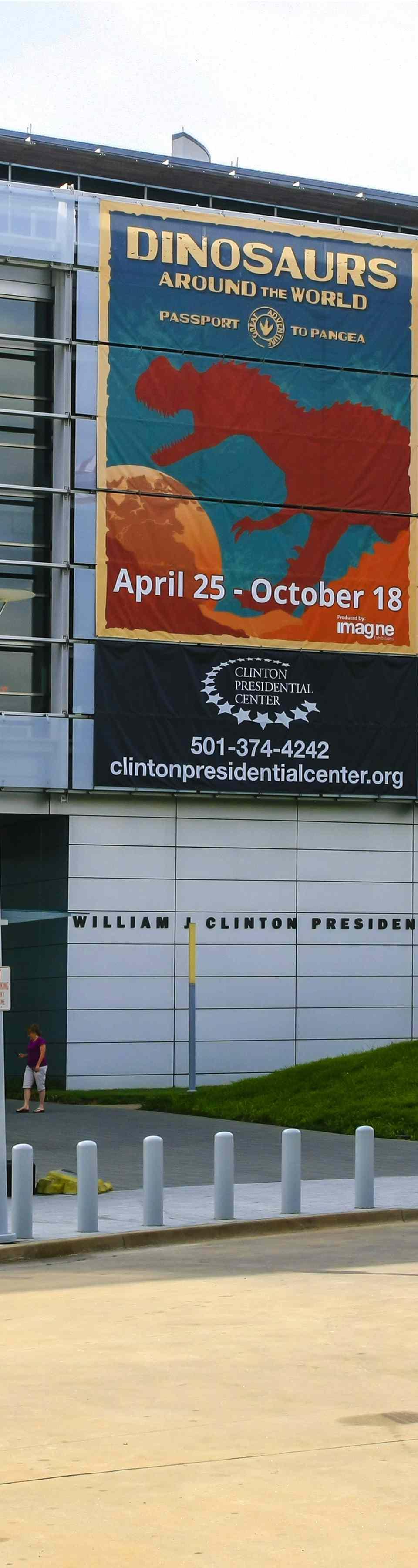 William J. Clinton Presidential Center building in Little Rock Arkansas