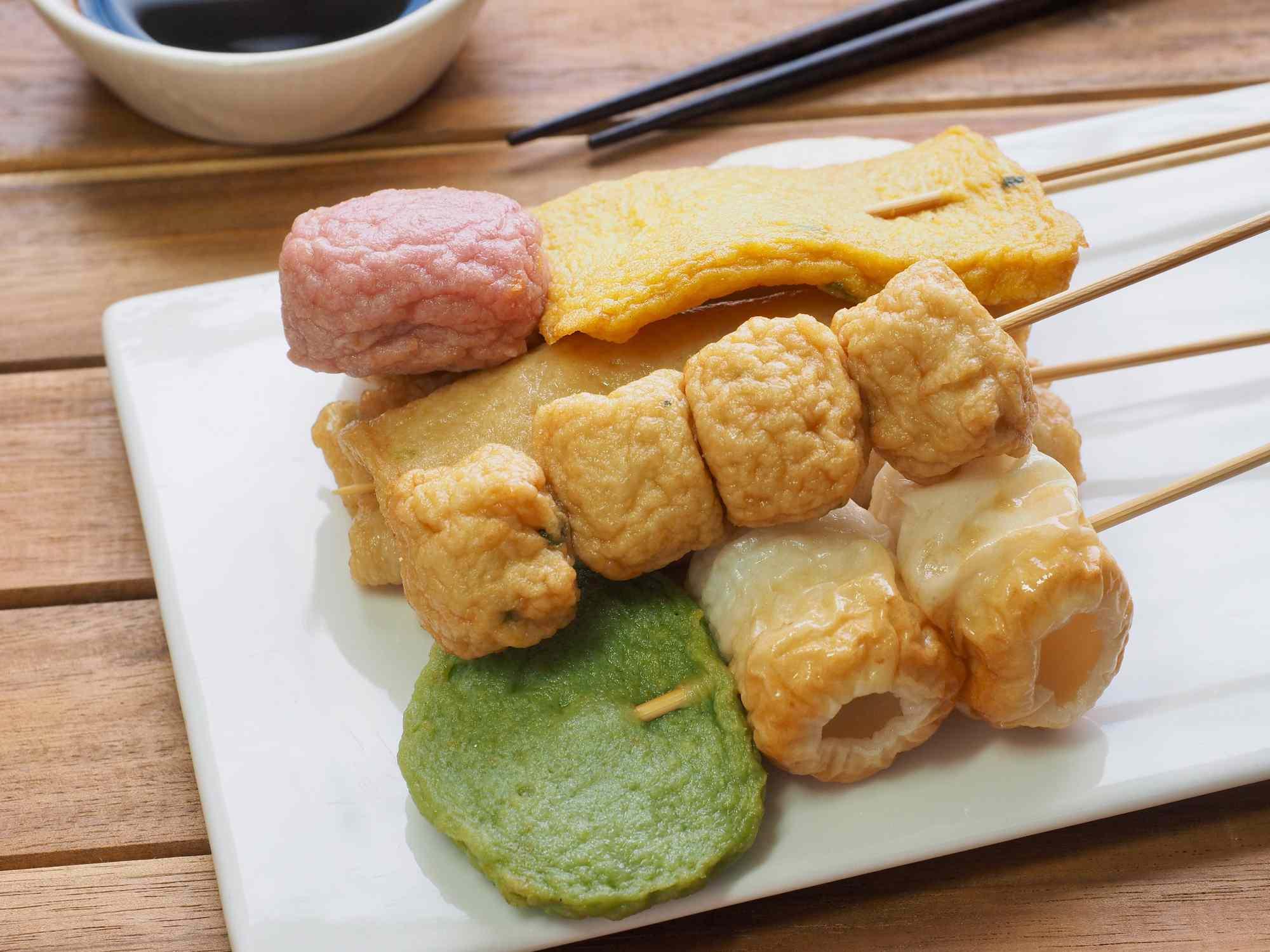 Asian food fish cake, fish paste, eomuk, odeng, kkochieomuk