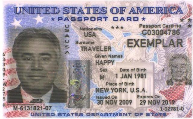Tarjeta de pasaporte