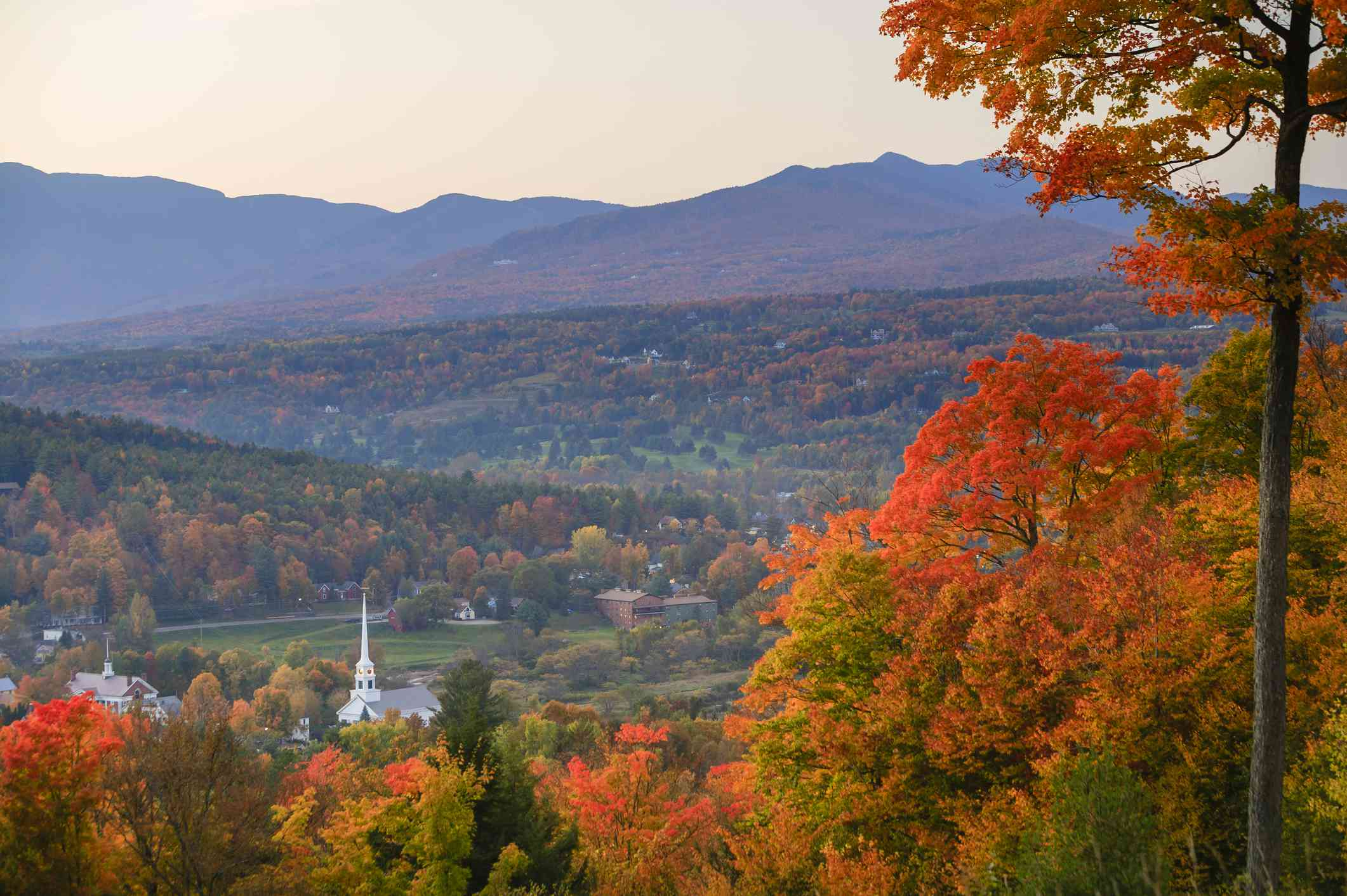 Stowe, Vermont, in the Fall