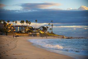 Marine Street Beach, Summer sky