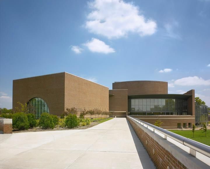 Outside the Touhill Performing Arts Center