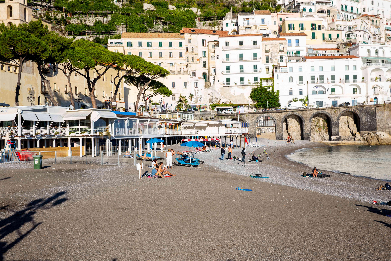 Amalfi's Marina Grande Beach, Italy