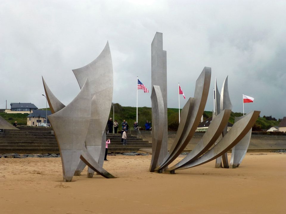 World War II Memorial on the Beaches of Normandy