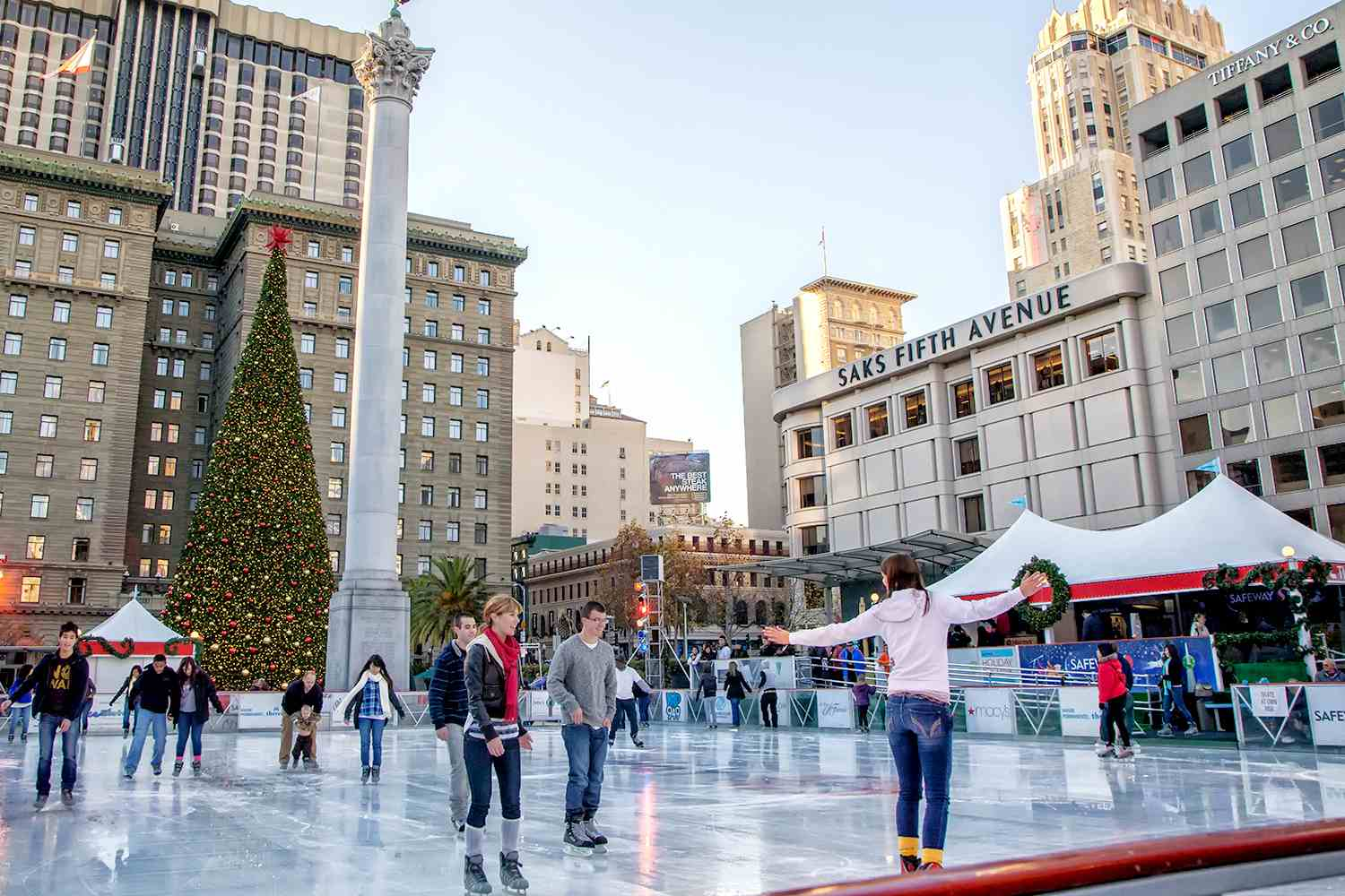 Holiday Skating in Union Square