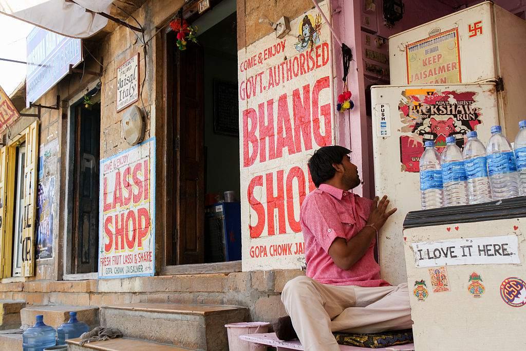 Bhang shop in Jaisalmer