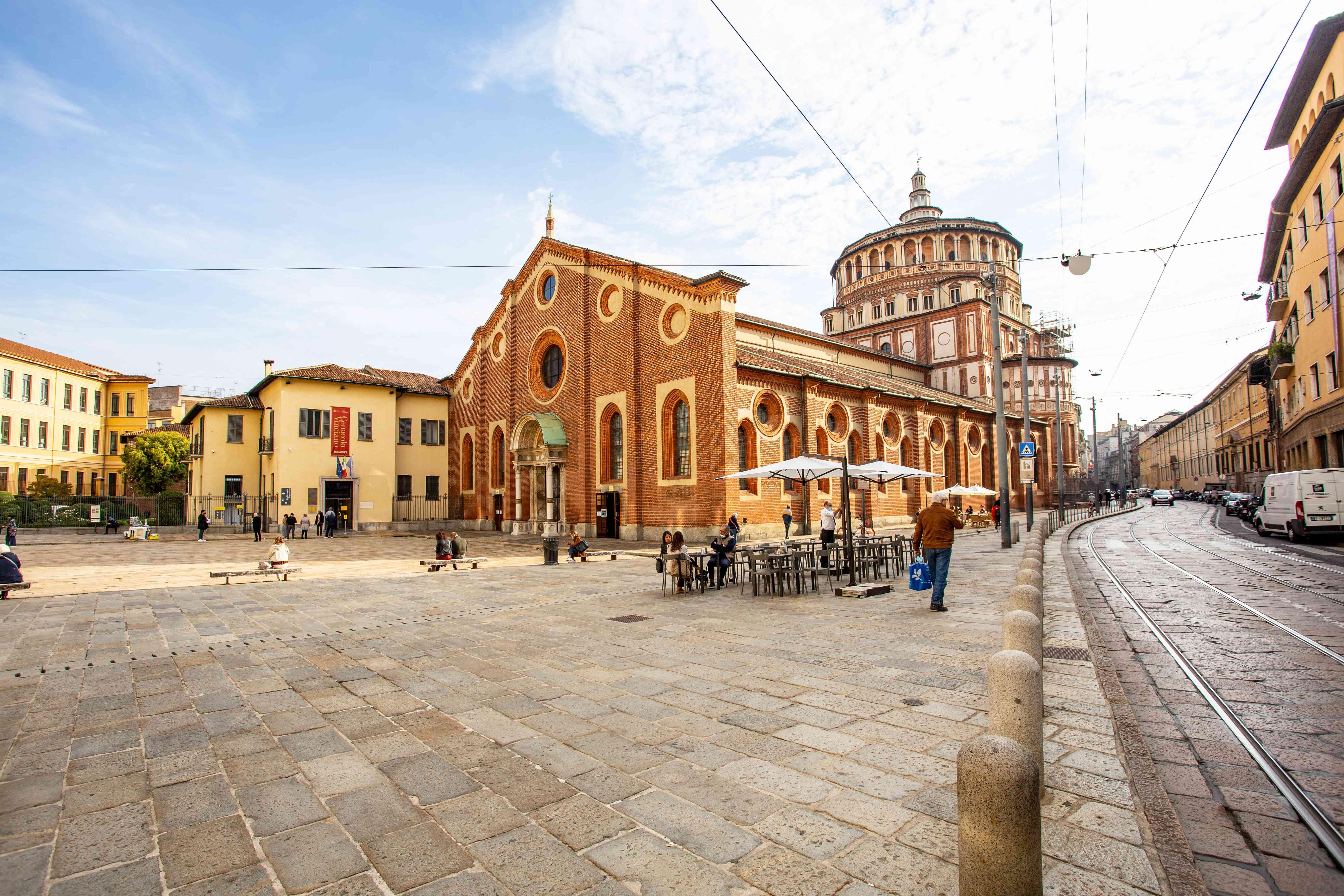 The Convent of Santa Maria della Grazie in Milan