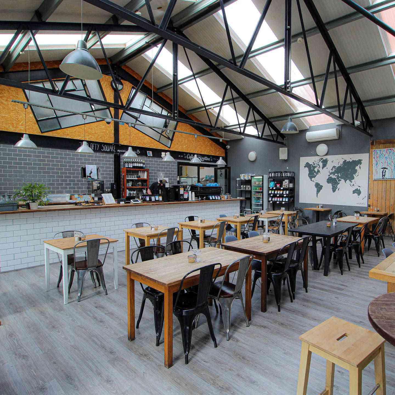 loft style coffee house