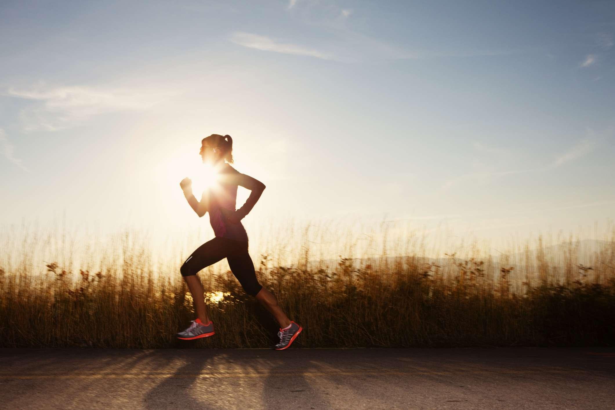Running in sunlight