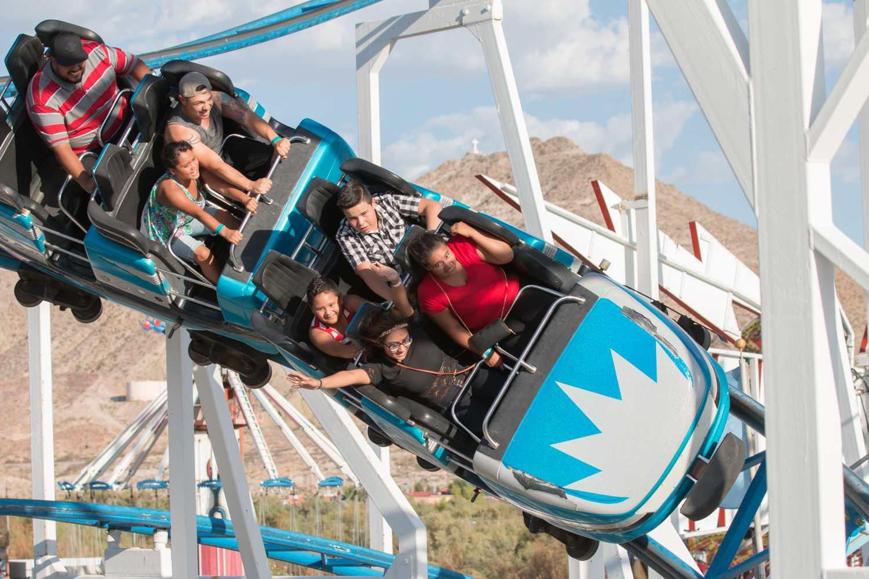 La montaña rusa de huracanes en el oeste de Playland, Nuevo México