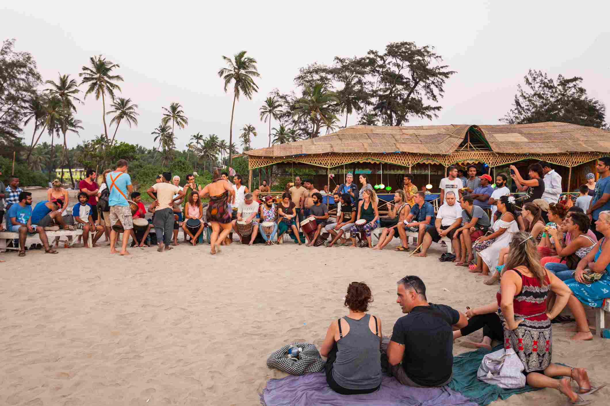 Playa de Arambol en Goa