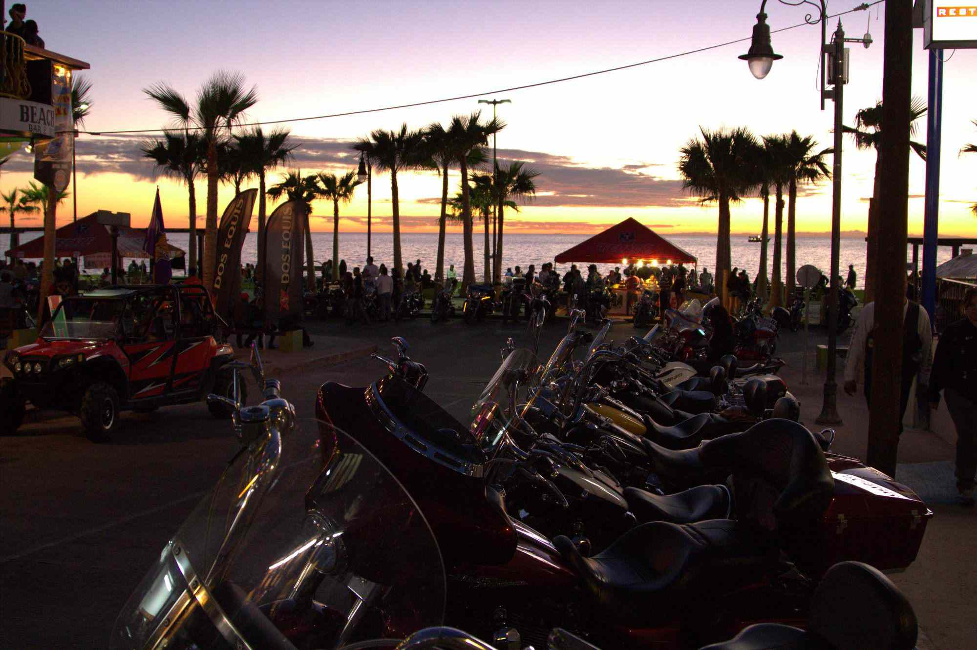 Motorcycles parked at Rocky Point Rally