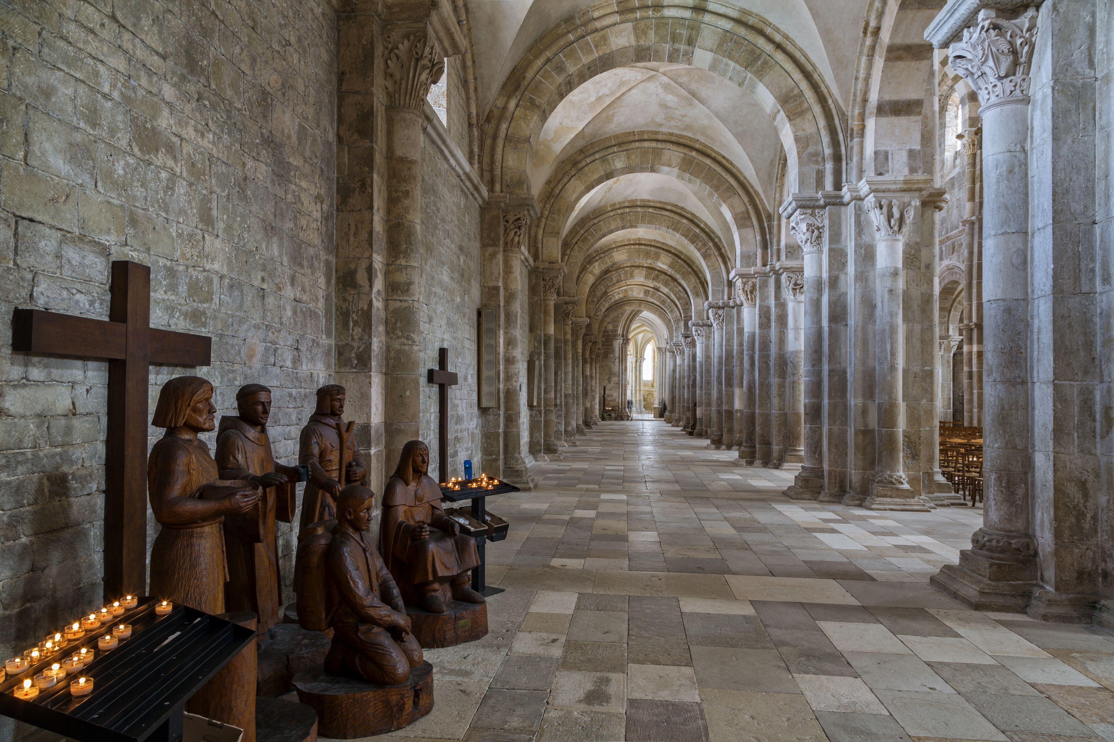 The basilica, Vezelay, Yonne, Burgundy, France