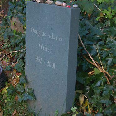 Douglas Adams Tombstone, East Cemetery, Highgate Cemetery, London