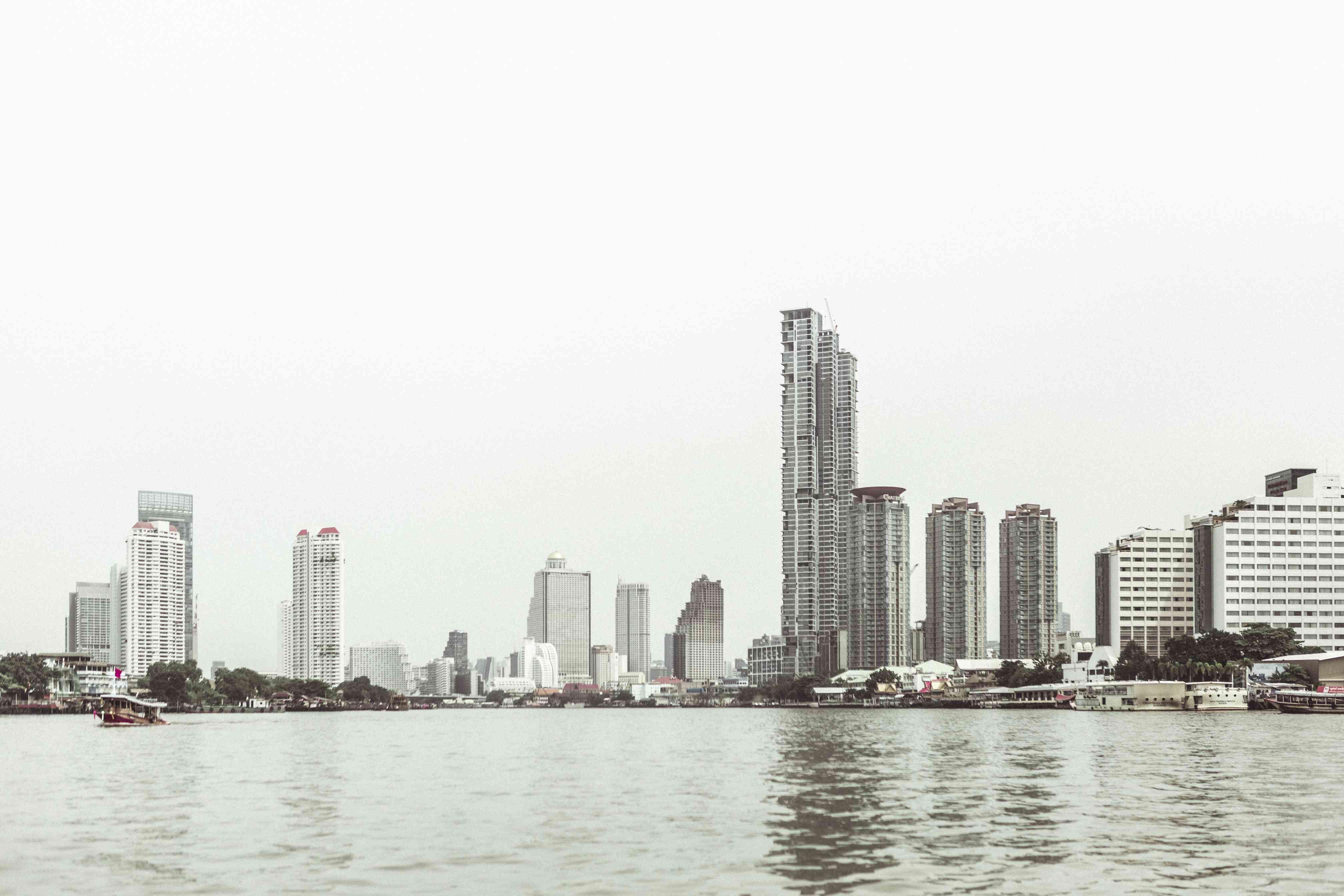 Bangkok skyline from the river