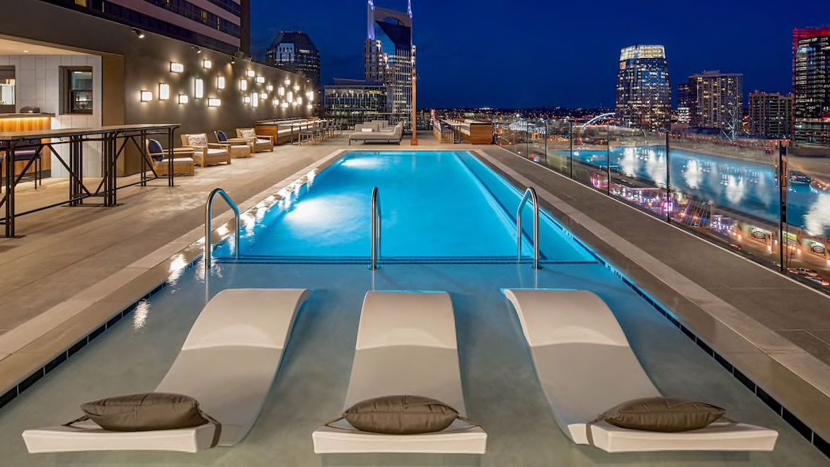 Holston House rooftop pool and lounge