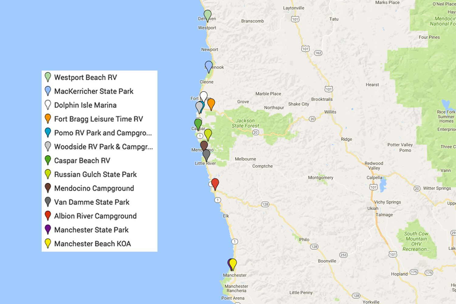 Mendocino Camping and Campgrounds: Best Places on