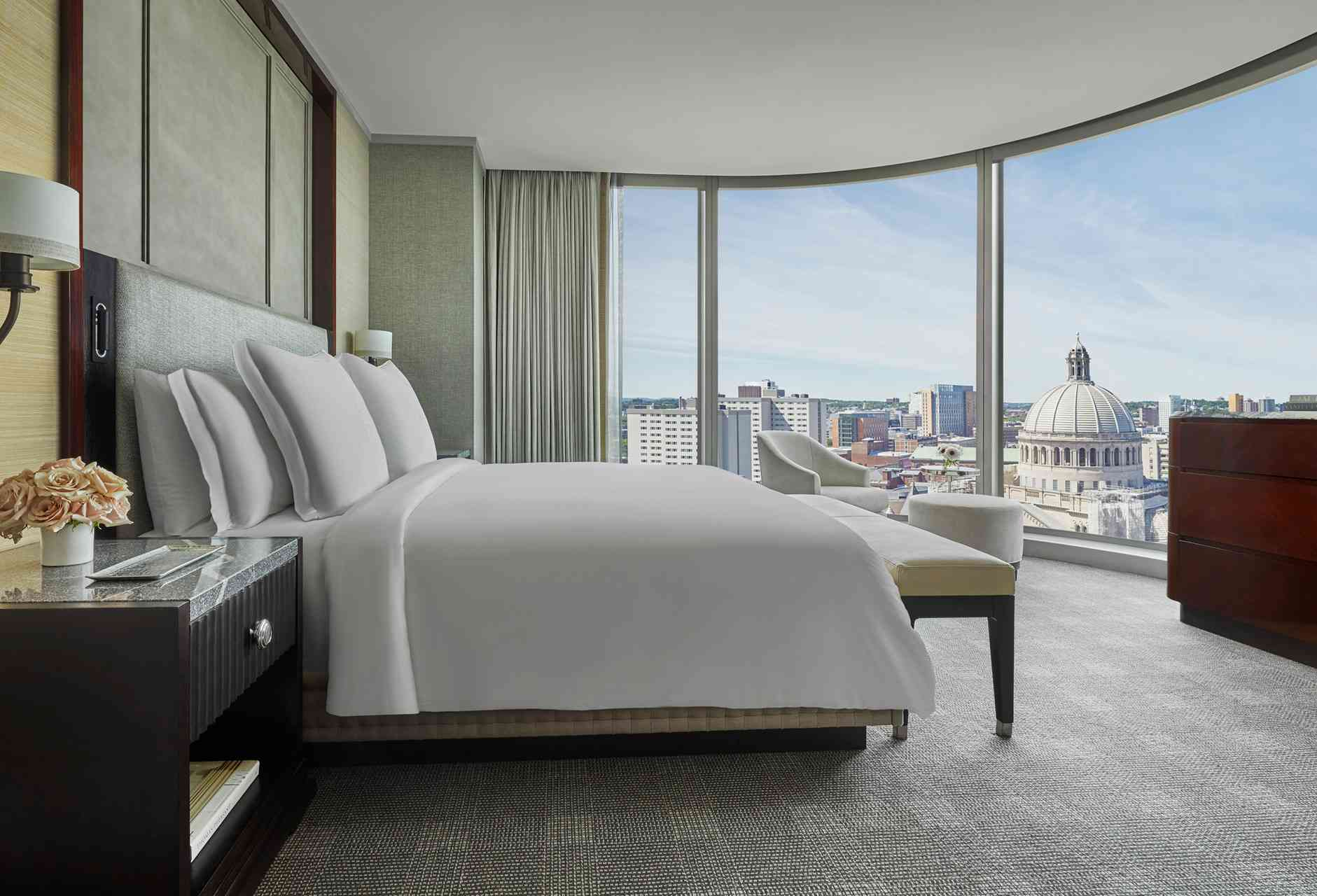 bedroom with Back Bay views