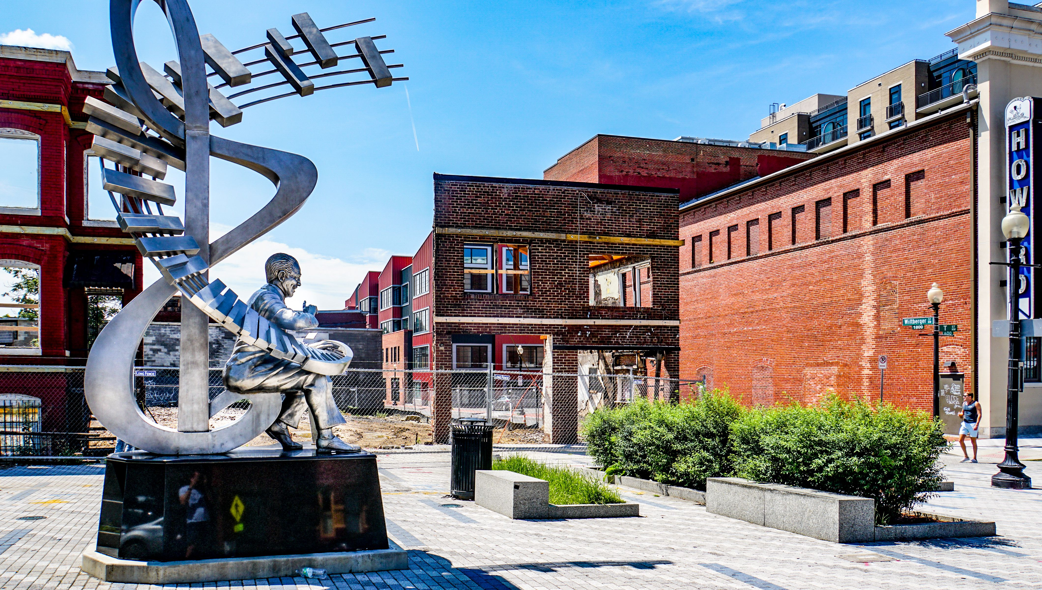 Duke Ellington statue, Le Droit Park, Shaw neighborhood, Washington, D.C.