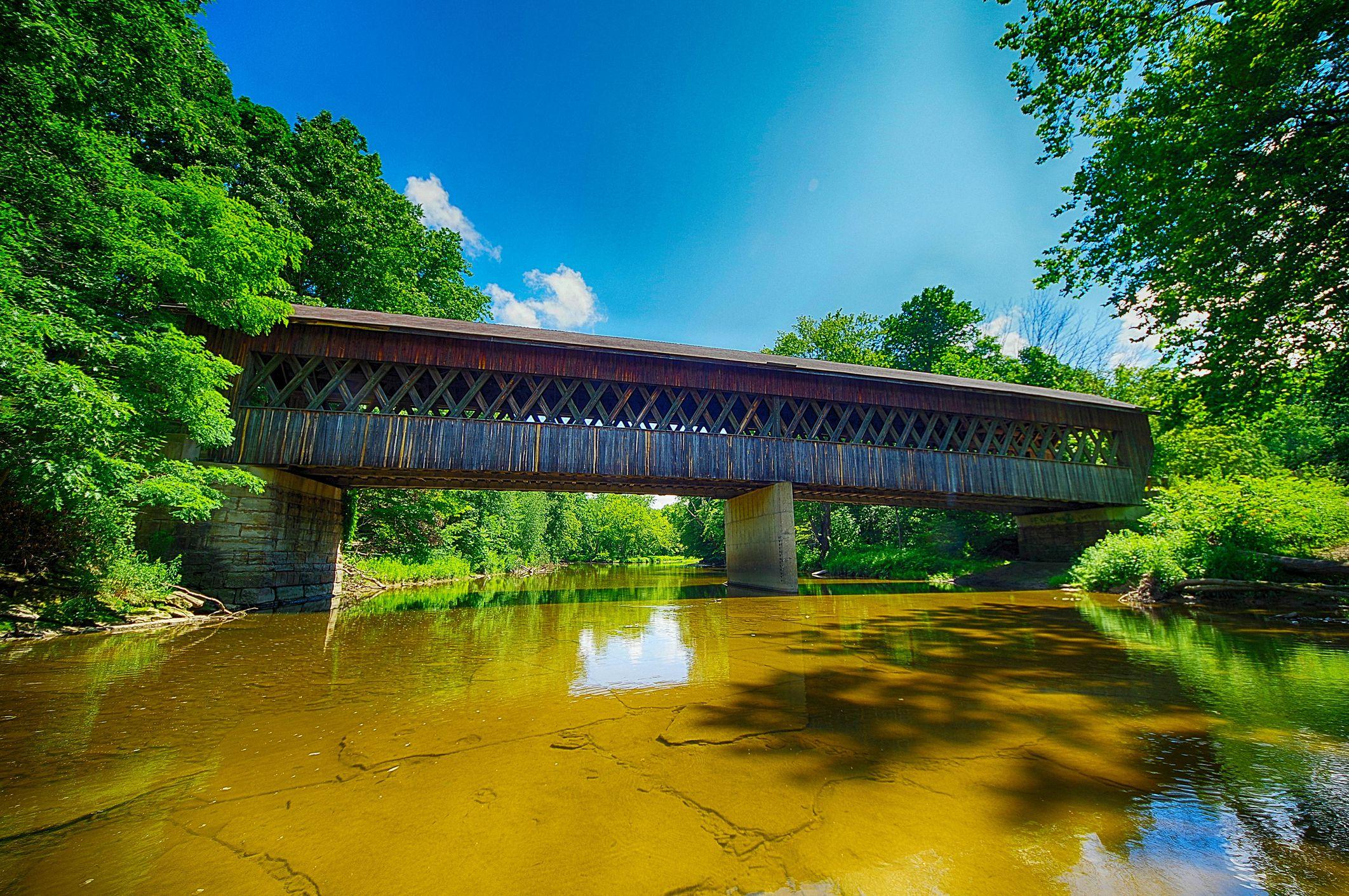 Conneaut Creek Covered Bridge Side view
