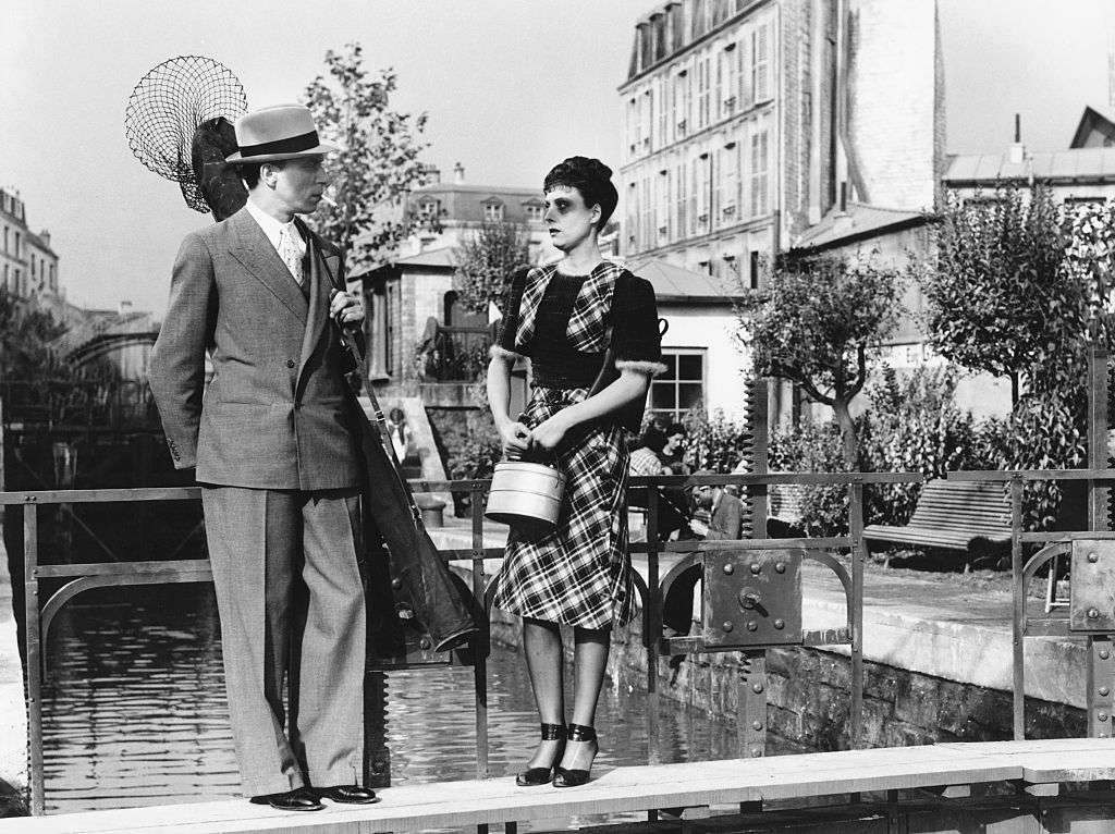 French actors Louis Jouvet and Arletty on set of Hotel du Nord, based on the novel by Eugene Dabit, and directed by Marcel Carné.