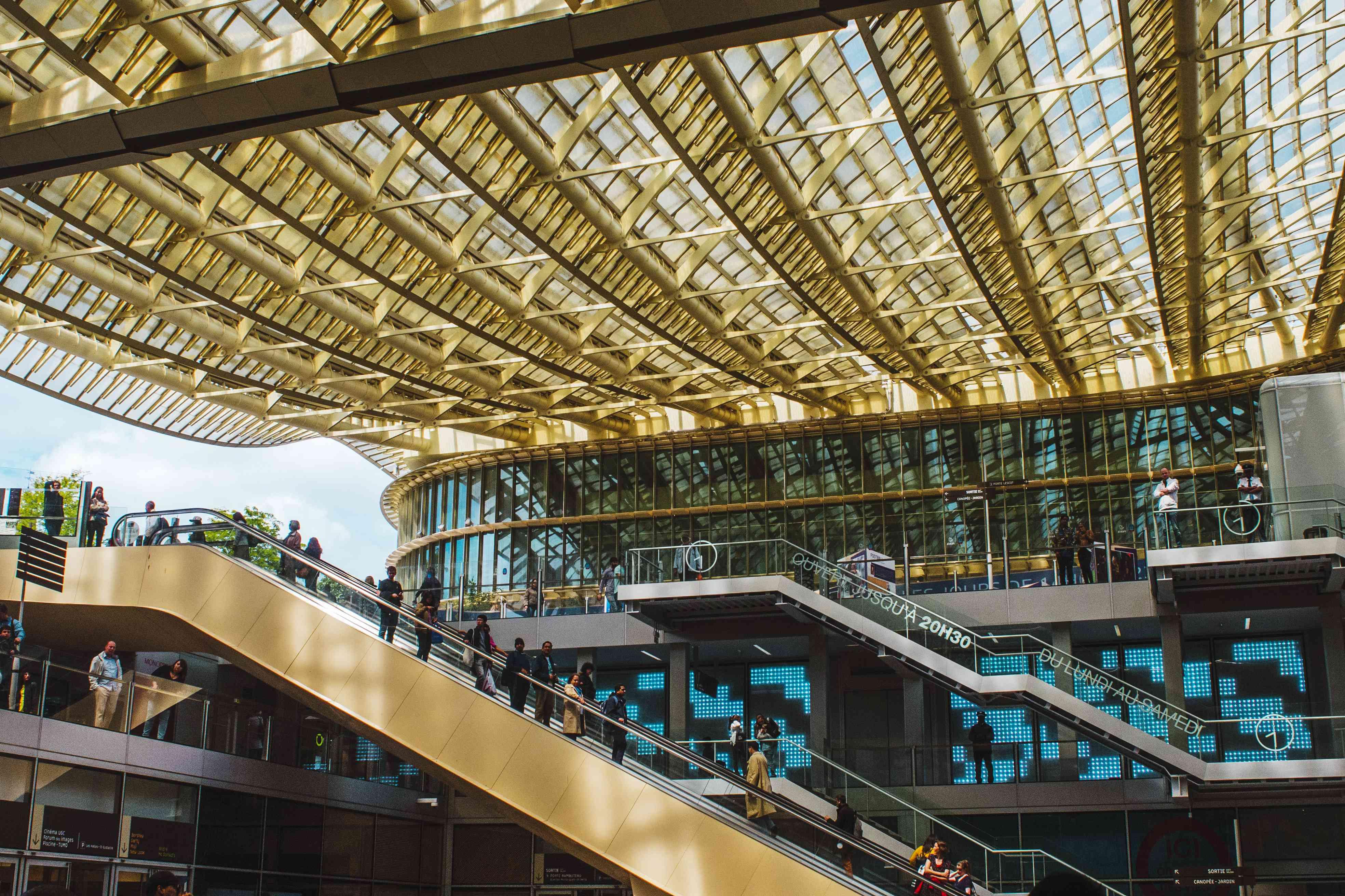 Escalators at Les Halles