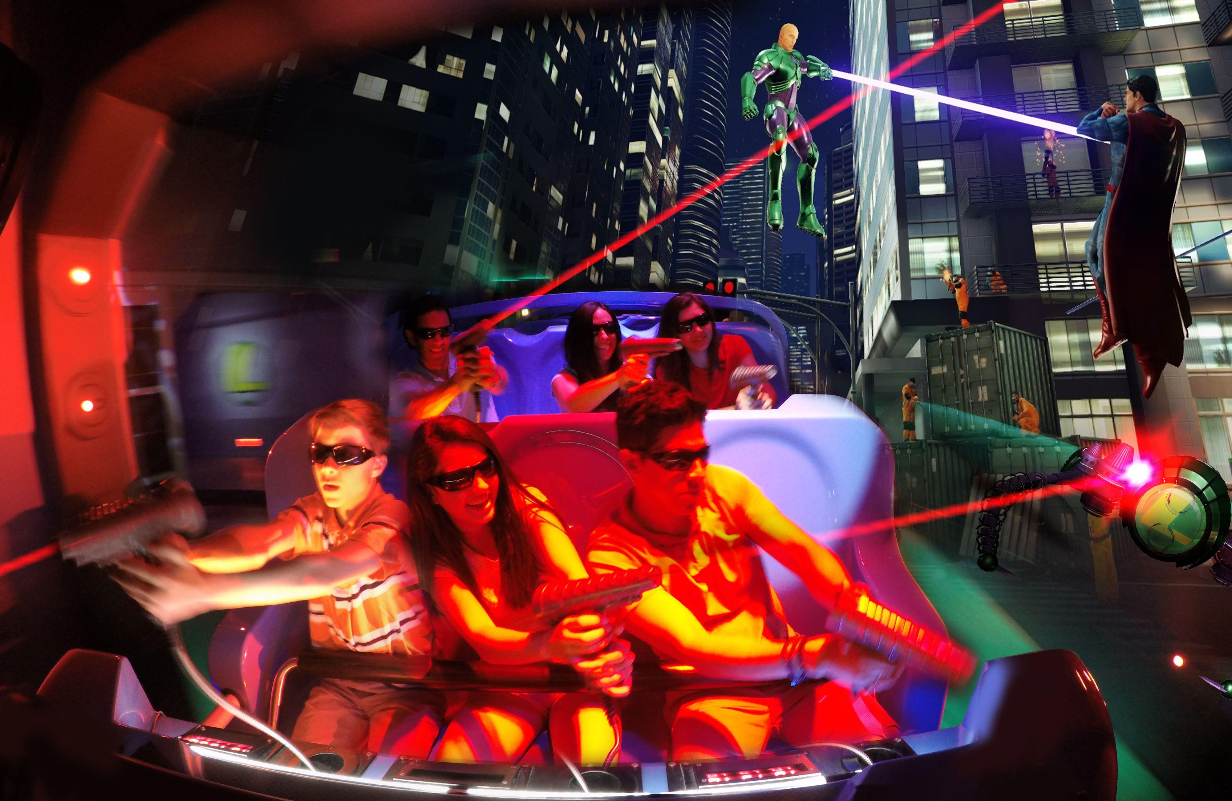 Justice League: Battle for Metropolis Six Flags ride