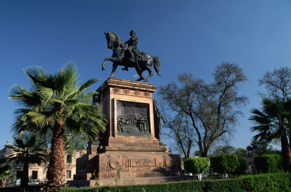 Statue of Mexican Revolutionary Morelos