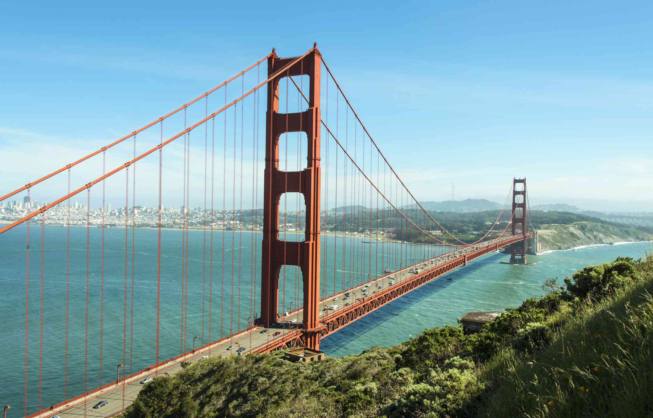 Golden Gate Bridge on a Sunny Day