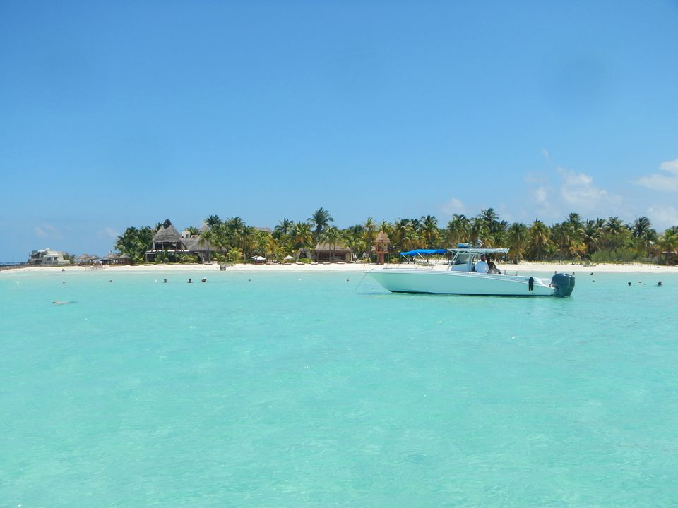 Boat Anchored off Playa Norte on Isla Mujeres