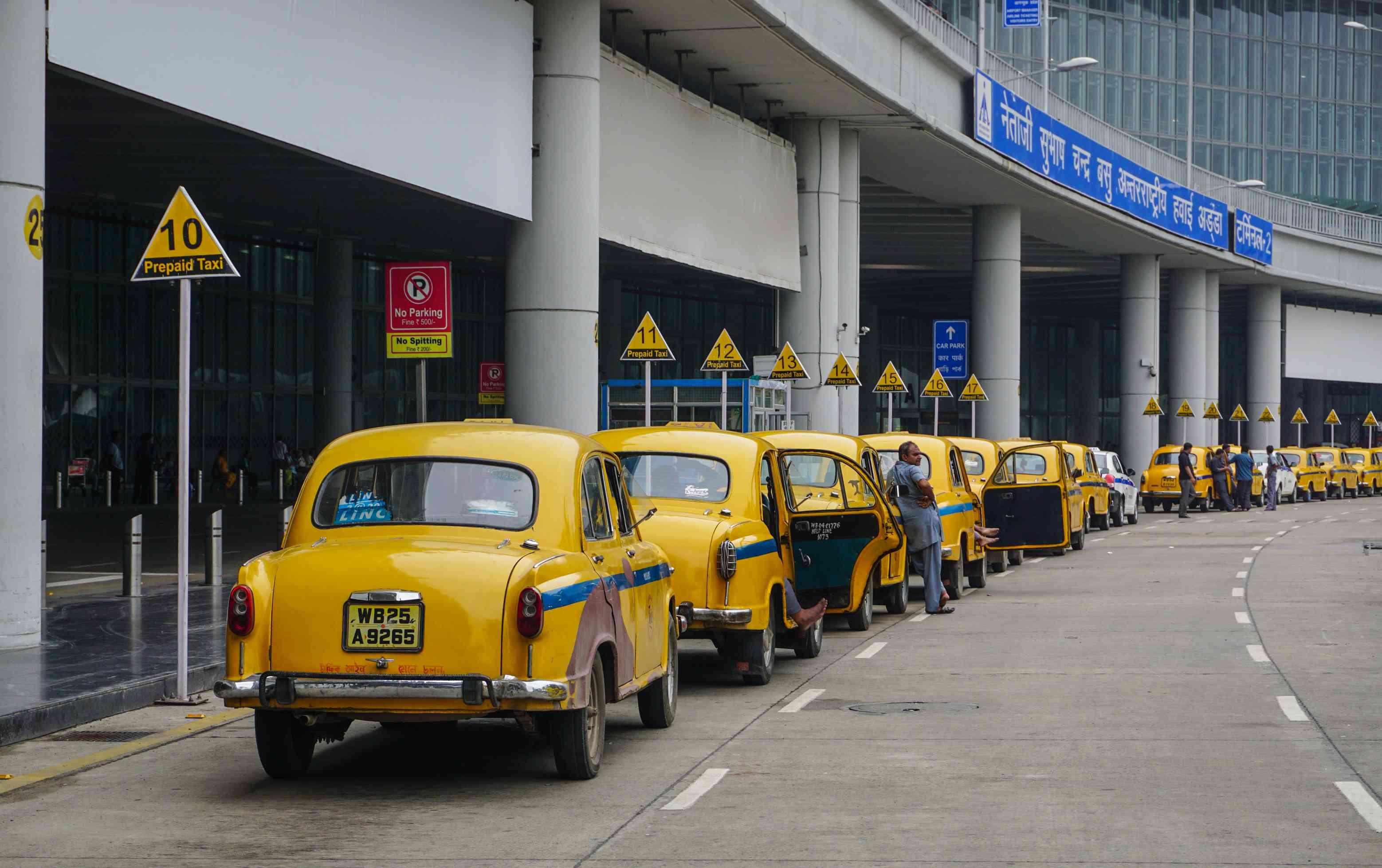 Aeropuerto de Kolkata taxis prepagos.