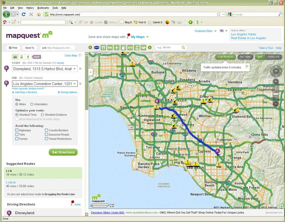 Mapquest Australia.Best Los Angeles Traffic Maps And Directions