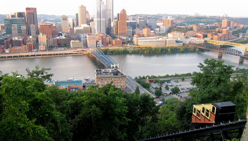 View from the Monongahela Incline in Pittsburgh.